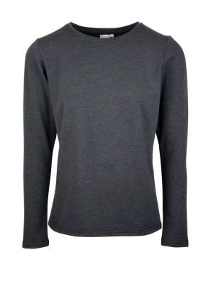 Charcoal grey ladies long sleeve top T-shirt made in South Africa
