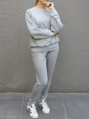 Grey sweater track top with matching sweatpants a tracksuit made in South Africa