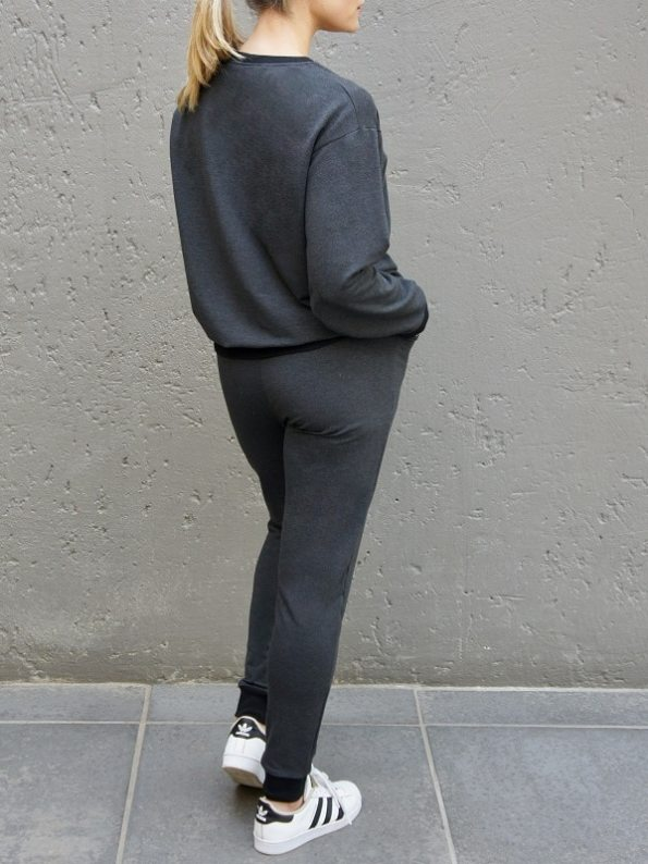 JMVB Athleisure Sweater and Sweatpants Charcoal Back