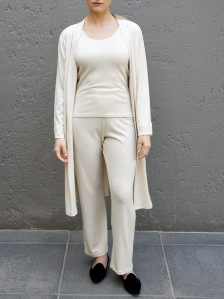 Loungewear set with long cardigan, tank top and pants South Africa
