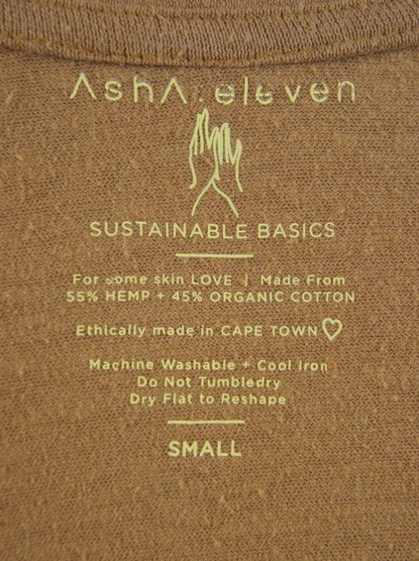 Asha Eleven Hemp Organic Cotton T-shirt Chesa Detail