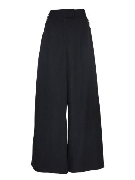 High Waisted Wide Leg Hemp Pants Black South Africa