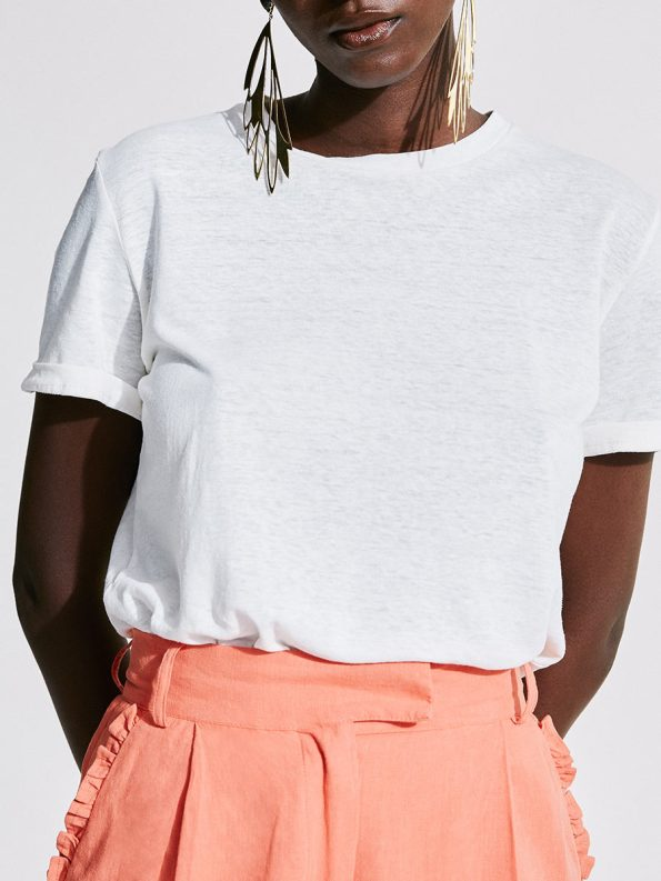 Asha Eleven Organic Cotton White T-shirt 1