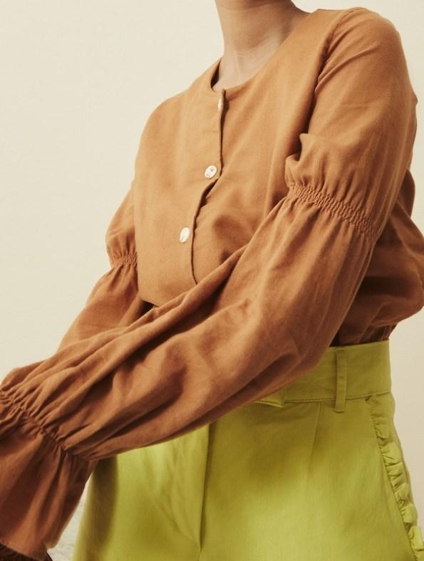 Asha Eleven Outlander Blouse Chesa Sleeve Detail