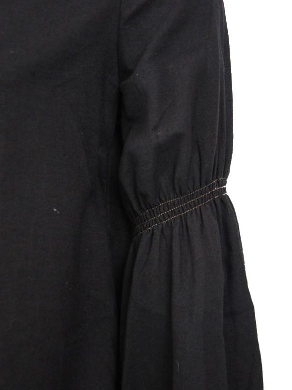Asha Eleven Outlander Hemp Blouse Black Upper Sleeve