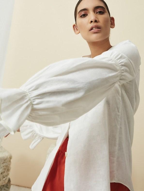 Asha Eleven Outllander Blouse Natural White