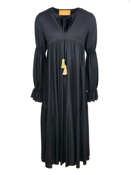 black long dress empire line maxi dress made in South Africa