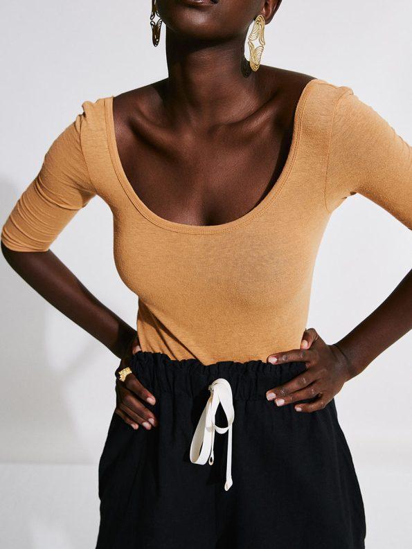 Asha Eleven Salama Shorts Black with Bodysuit 2