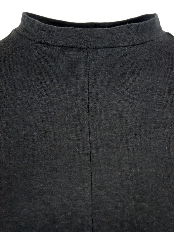 Asha Eleven Turtle Neck Hemp Long Sleeve Top Black Detail