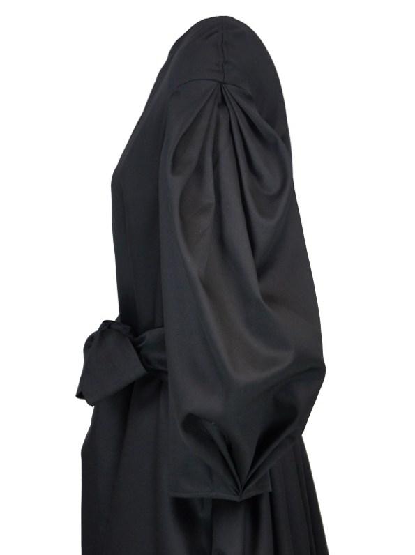 Erre Angle Summer Coat Black Side Closeup