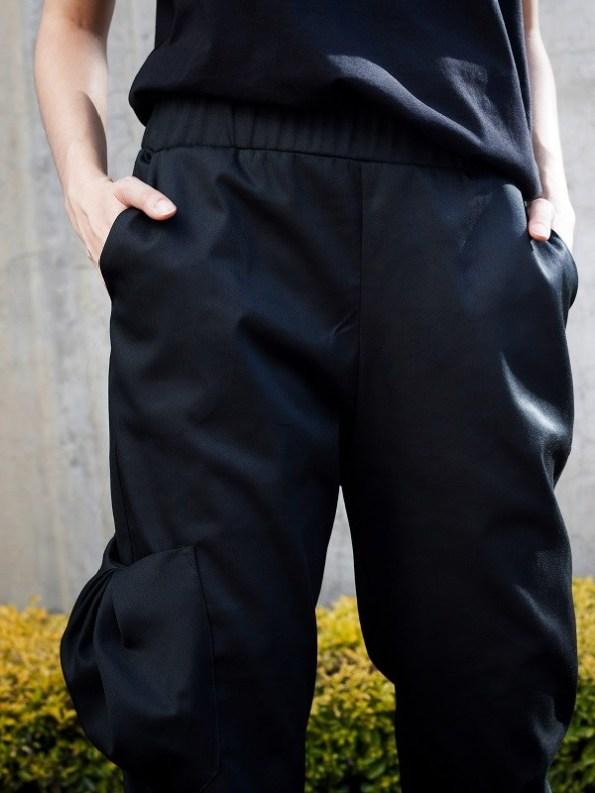 Erre Edge Cargo Pants Black Pocket Close Up