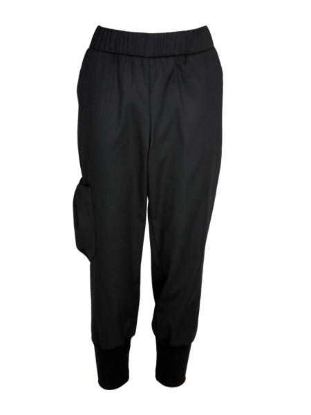 Women's cargo pants cropped black made in South Africa