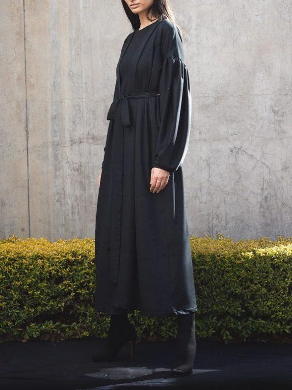 Erre Gather Coat Coverup Kimono Jacket Side