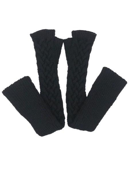 Long Fingerless Black Gloves South Africa
