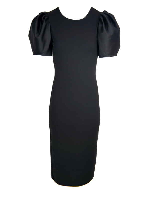 Erre Silhouette Pencil Dress Black