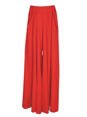 Erre Wide Leg pants red