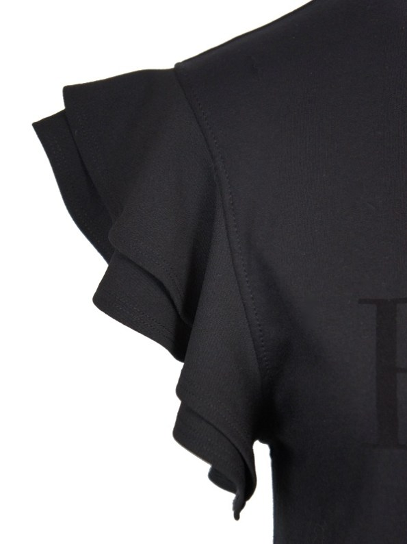 Erre logo T-shirt Black Sleeve Detail