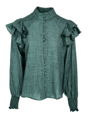 Green linen blouse South Africa