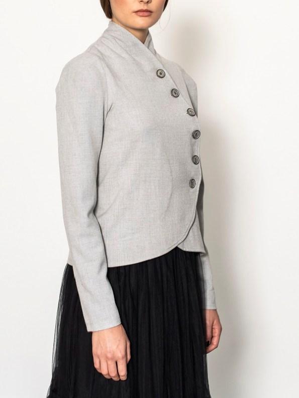 Smudj Margot Jacket Light Grey Side Cropped