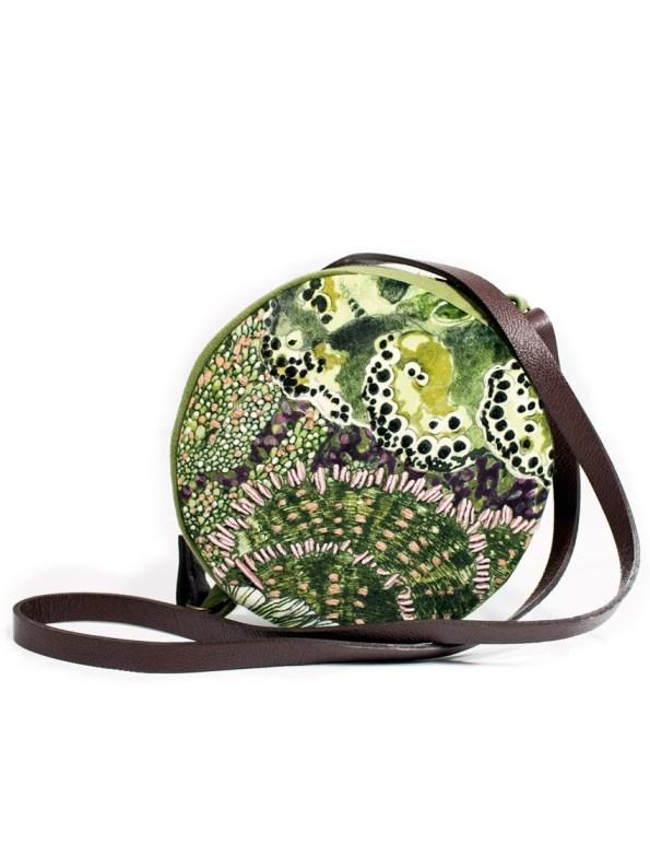 Wanderland Embroidered Round Bag Oceanum Moss