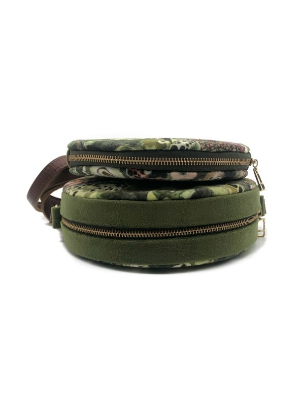 Wanderland Embroidered Round Bag and Pouch Oceanum Moss