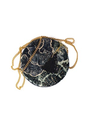 round velvet bag black South Africa
