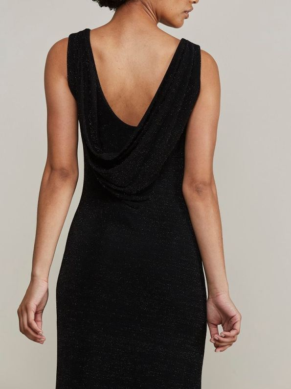 Mareth Colleen Blaire Sparkle Low Back Dress Cropped