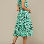 Mareth Colleen Jan Dress Basil Print