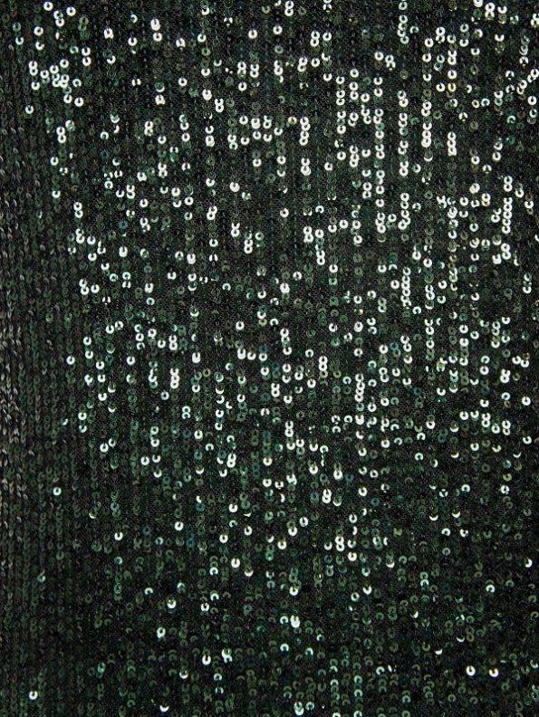 Mareth Colleen Sequin Evening Dress Green Fabric