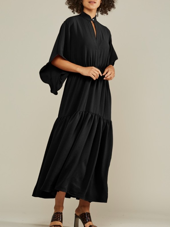 Mareth Colleen Tristan Maxi Dress Black Front