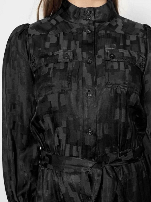 Smudj Aaron Utility Jumpsuit Black Camo Front Cropped
