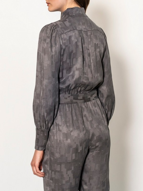 Smudj Aaron Utility Jumpsuit Slate Camo Back Cropped