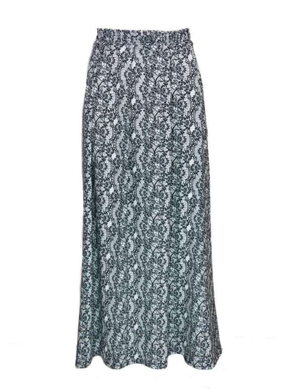 African Style Story 3-in-1 Dress Lace Print Black & White Skirt