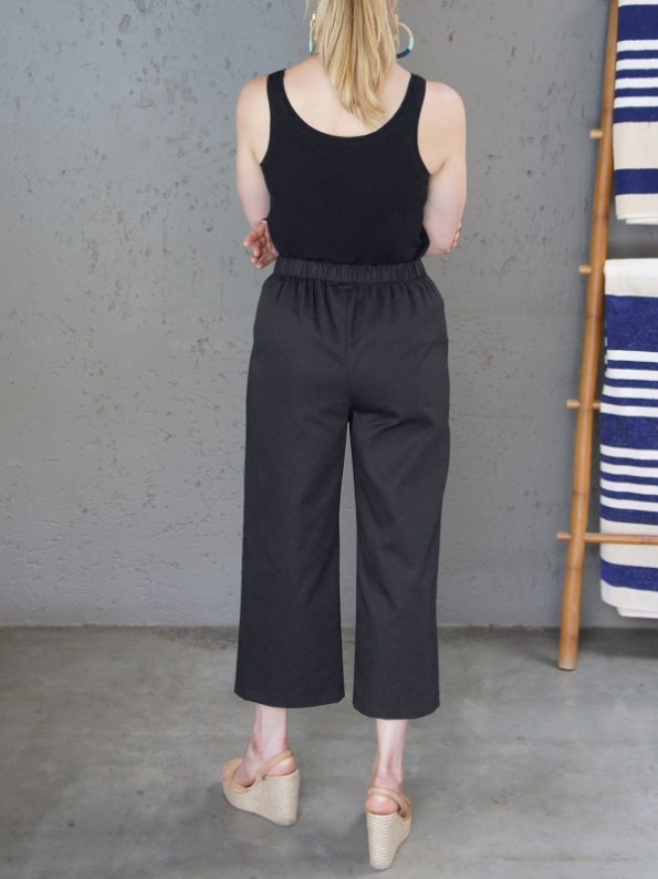 JMVB Black Tank Top and Black Culottes Back