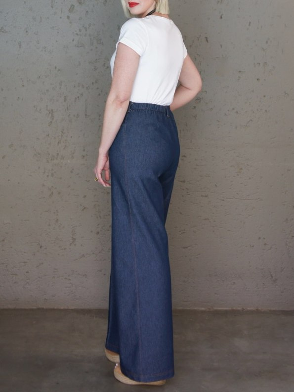 JMVB High Waisted Wide Leg Jeans with Jimmy D T-shirt Back