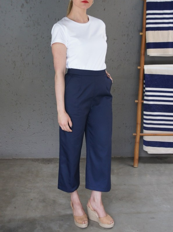JMVB Jimmy D White T-shirt and Navy Culottes Side