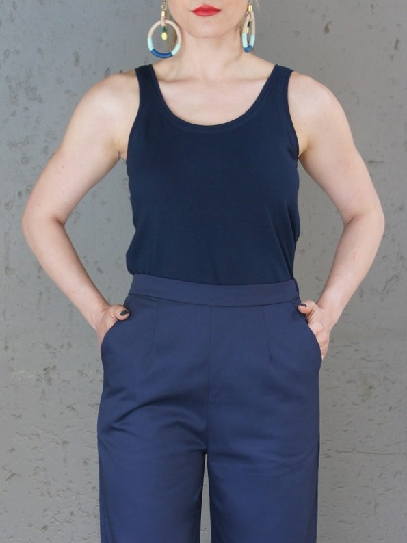 JMVB Navy Tank Top with Navy Culottes Cropped