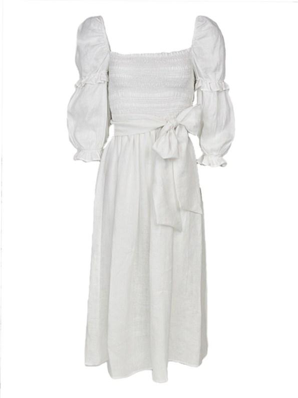 Asha Eleven Jani Dress White Linen