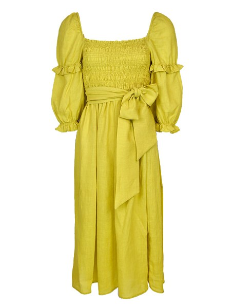 lime green linen midi dress South Africa
