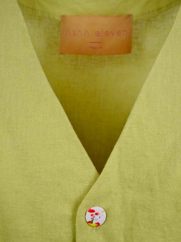 Asha Eleven Kazi Blouse Limon Neck Detail