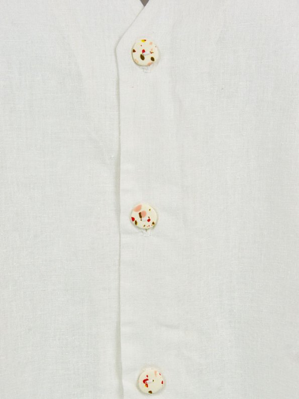 Asha Eleven Kazi Blouse Natural Buttons