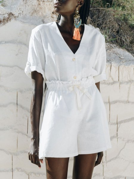 white linen hemp blouse shirt and shorts South Africa
