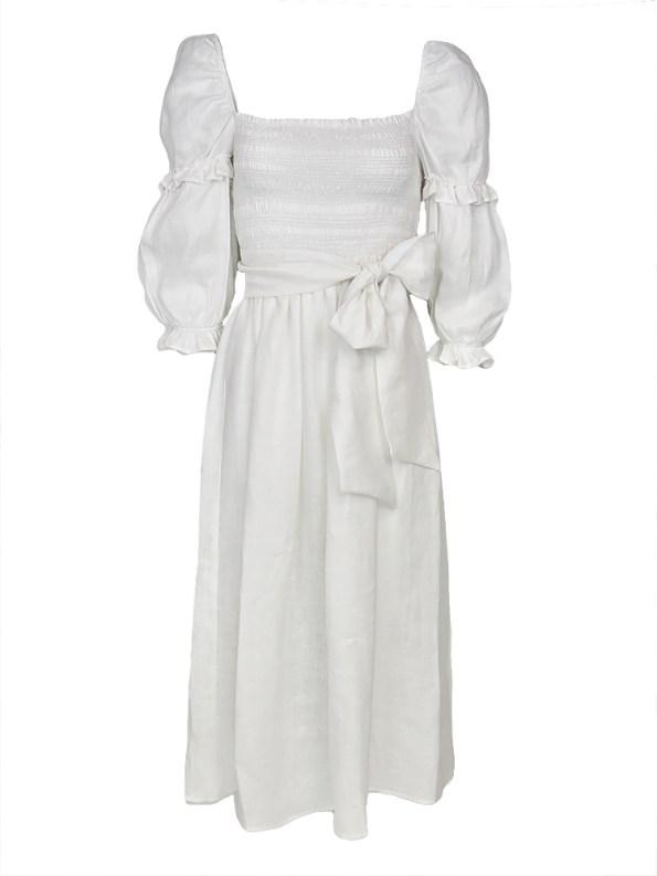 Asha Eleven Jani Dress Off-white