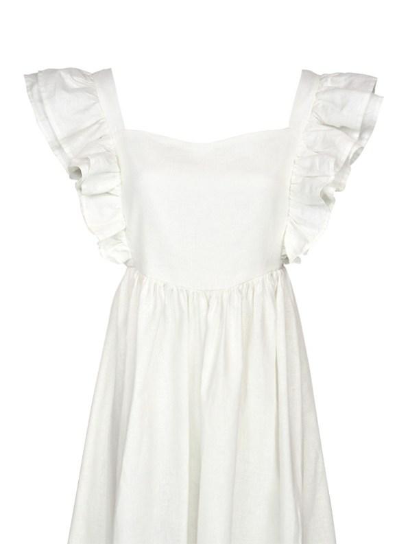 Asha Eleven Pambo Dress Off-white Top