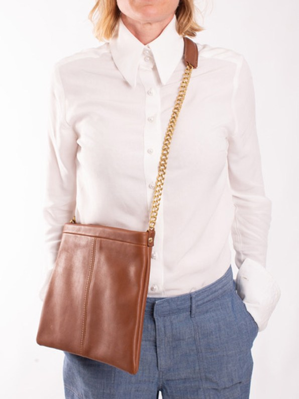 House of Cinnamon Jodine Shoulder Bag Tan Cross Body