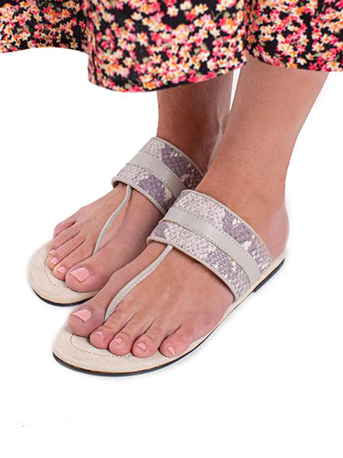 House of Cinnamon Louise Sandals Grey Modelled