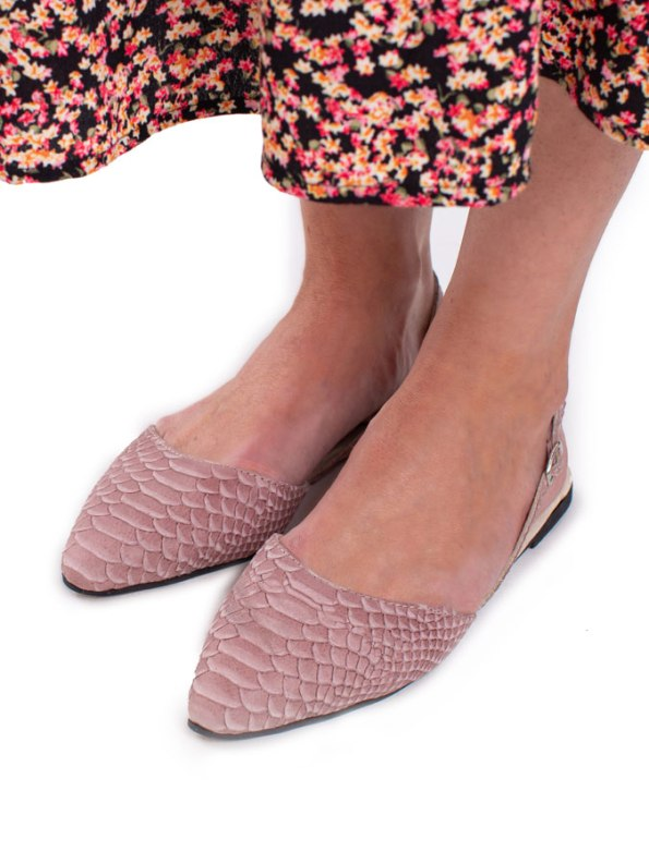House of Cinnamon Nicole Slingback Blush Pink Modelled