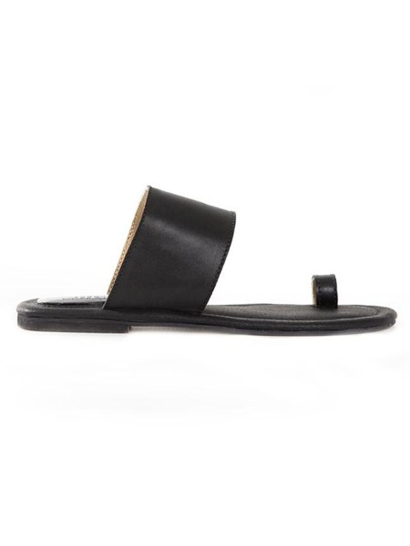 Toe Strap Leather Sandals Black South Africa