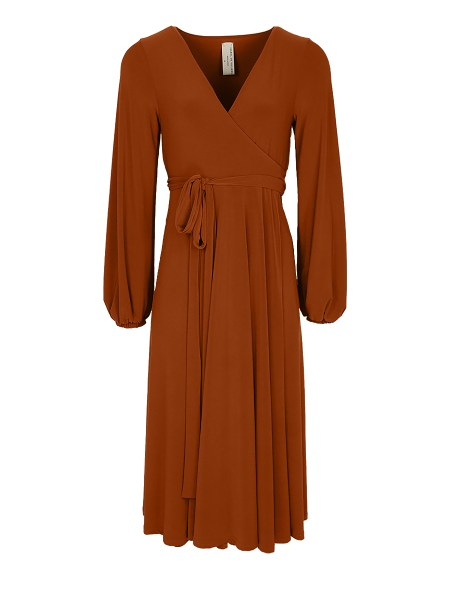brown midi wrap dress plus size South Africa
