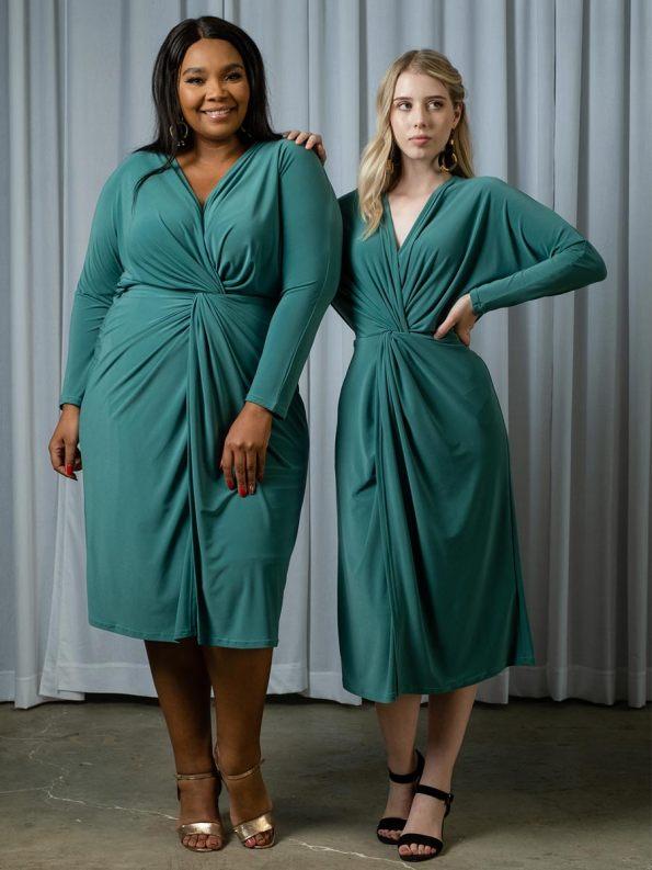 IDV Twist Dress Seafoam_